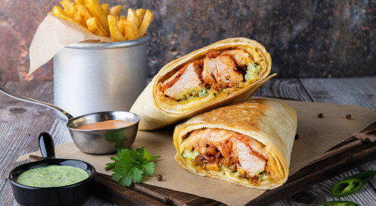CHEESY HOT WRAP